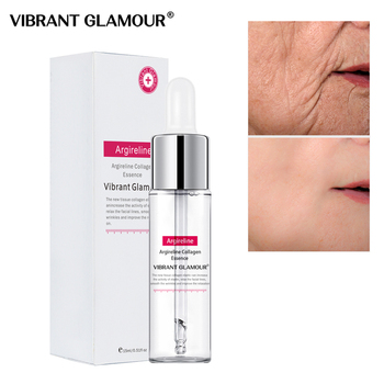 VIBRANT GLAMOUR Collagen Serum Essence Peptide Face Hyaluronik Asit Serum Anti Aging Wrinkle Whiten Visage Skin Care vibrant glamour argireline collagen peptides face serum anti wrinkle ageless collagen essence lift firming moisturizer skin care