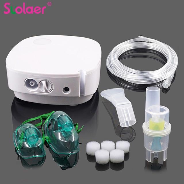 1 Set Mini Portable Air Compresser Nebulizer Inhaler Medication Kit Mini Home Adult Child Kids Steaming Device Medical Equipment