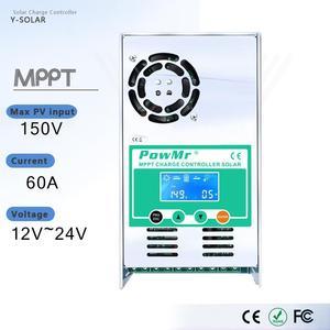 MPPT 60A ЖК-дисплей Контроллер заряда на солнечной батарее 12 В 24 в 36 в 48 в автоматический регулятор заряда батареи для макс. 190 в DC вход