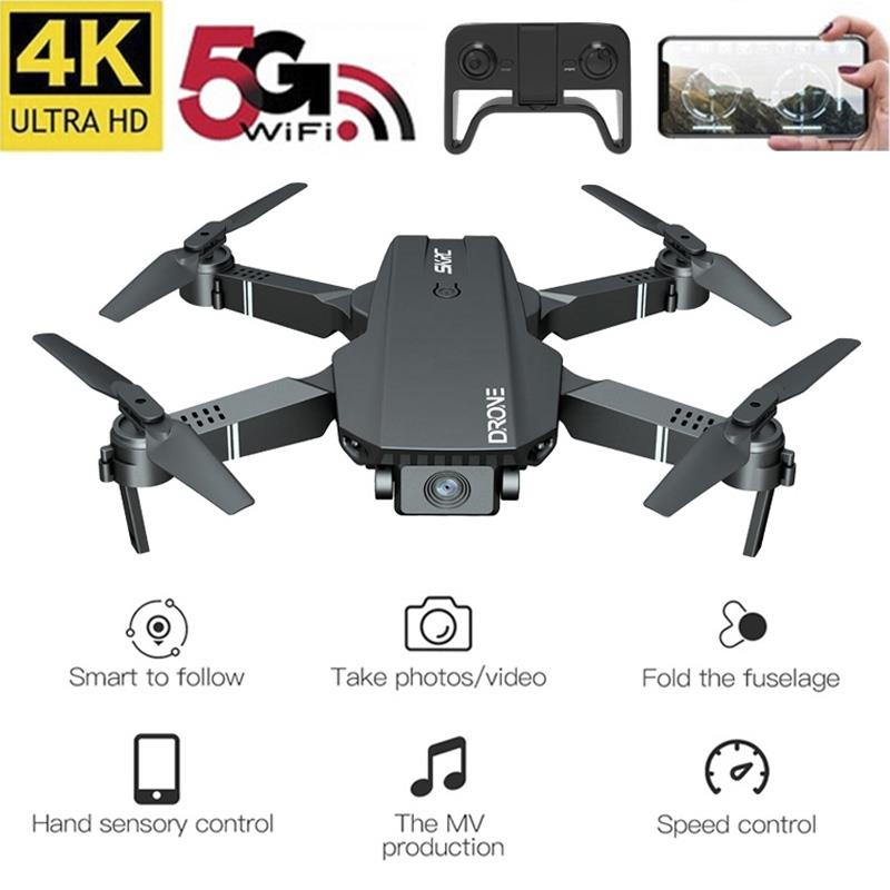 S107 Drone 4k WiFi FPV Drone Trajectory Flight Altitude Hold Gesture Photo Video RC Quadcopter 3D Flip Headless Mode