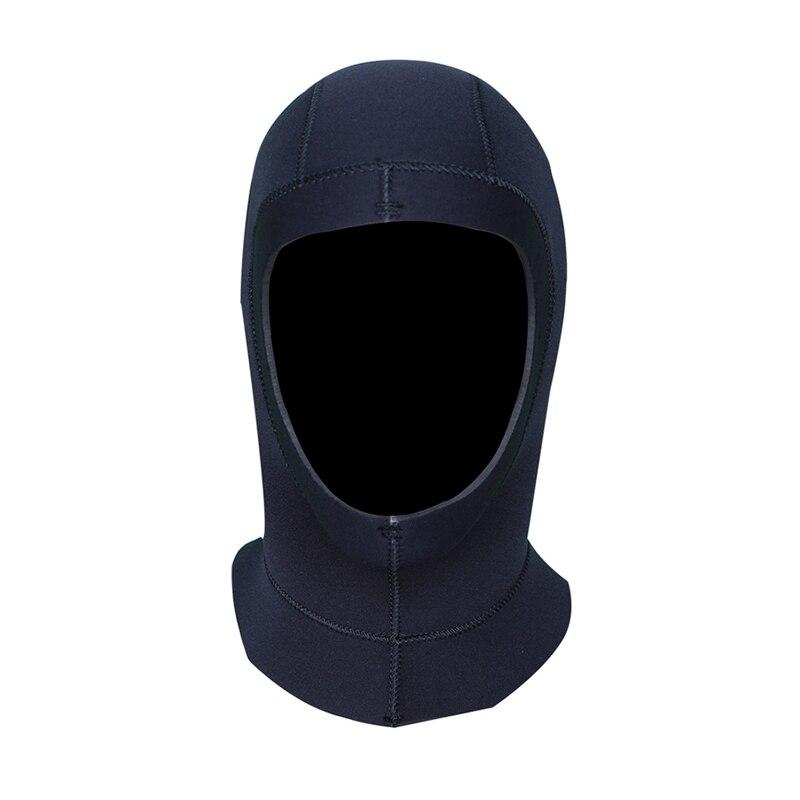 Spor ve Eğlence'ten Bisiklet Yüz Maskesi'de Kadın erkek kalın termal yüzme sörf kafa saç ProtectiveProfessional 5mm dalış kafa boyun kapak Cap koruma şapka davlumbaz title=