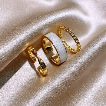 Anillo abierto de tres piezas estilo gótico para mujer, joyería coreana, Sexy, para fiesta de boda europea y americana, Sttudent, 2021