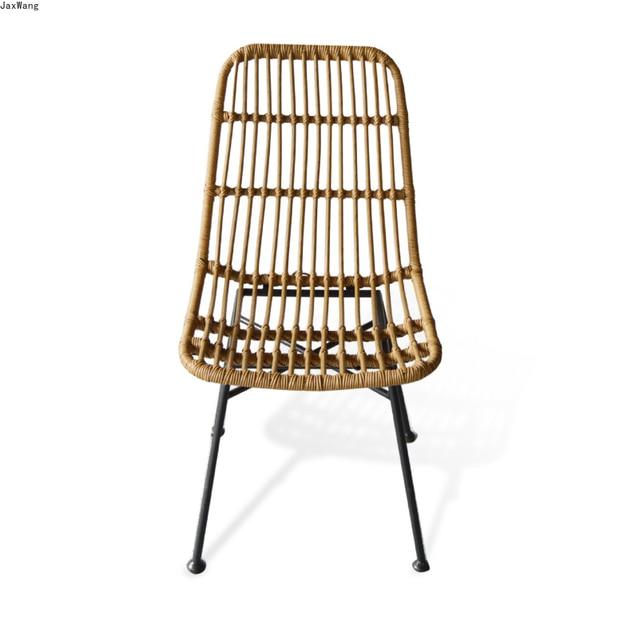 Hand-Woven Iron Balcony Chair 2