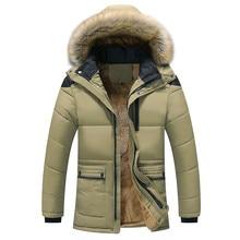 Quality Large Size Men Parkas Coat Plus Velvet Thicken Slim Zipper Winter Clothi
