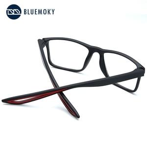 Image 3 - Bluemoky スポーツメガネフレーム男性のための光学近視眼鏡メガネ透明クリアメガネ男性眼鏡 2020