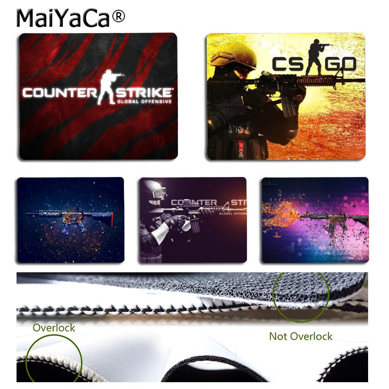 MaiYaCa Cool New CSGO Counter Strike Comfort Small Mouse Mat Gaming Mouse Pad Rubber PC Computer Mousepad For PC Laptop Notebook