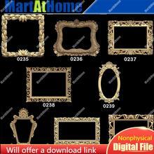 3d stl modelo quadros e espelhos para cnc roteador gravura & 3d impressão alívio apoio zbrush artcam aspire cut3d