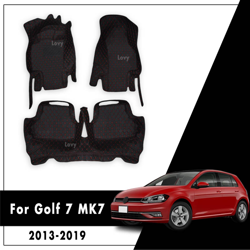 Custom Tappeti Tappeto In Pelle Impermeabile Car Styling LHD Tappetini Auto Per Il Golf 7 MK7 2013 2014 2015 2016 2017 2018 2019