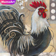 MomoArt Diamond Painting Handmade Cock Mosaic Full Square Drill Picture Of Rhinestone Embroidery