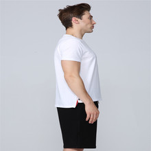 Summer Men's T-shirt High Quality 100% Pure Cotton Solid Color O-neck Trend Casual Fashion Quality Men's Top N006