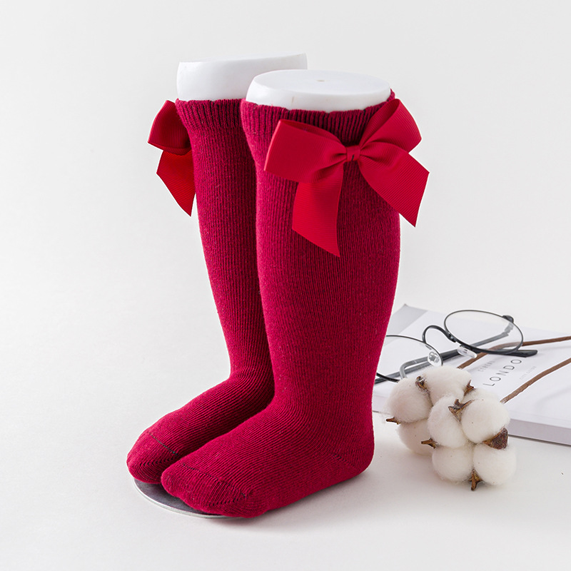 Baby Girl Socks Summer Spring And Autumn Socks Kids Bow Knee High Stockings Socks Princess Bottoming Baby Infant Socks