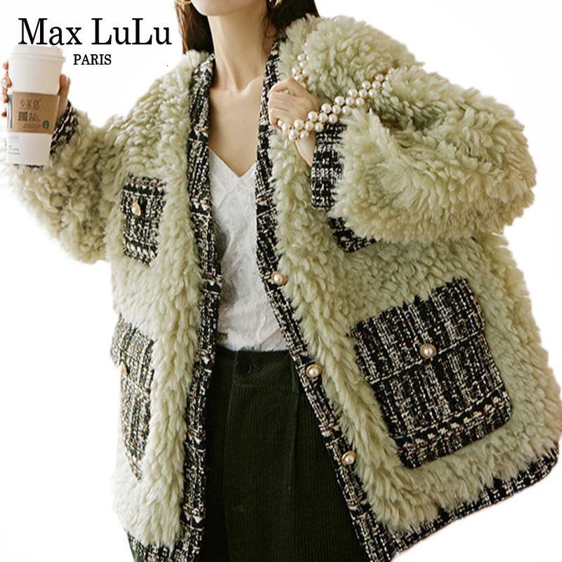 Max LuLu 2019 Korean Fashion Warm Punk Clothing Ladies Thicken Winter Jackets Women Vintage Woolen Fur Coats Casual Windbreakers