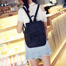 Women Backpack for School Style Leather Bag For College Simple Design Women Casual Daypacks mochila Female Cute Bagpack цена 2017