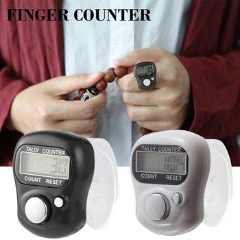 1 pcs electronic digital counter mini LCD electronic pedometer random color handheld ring marking plastic counter drop shipping 1 piece tmc7cx intelligent digital counter tmc7cx c