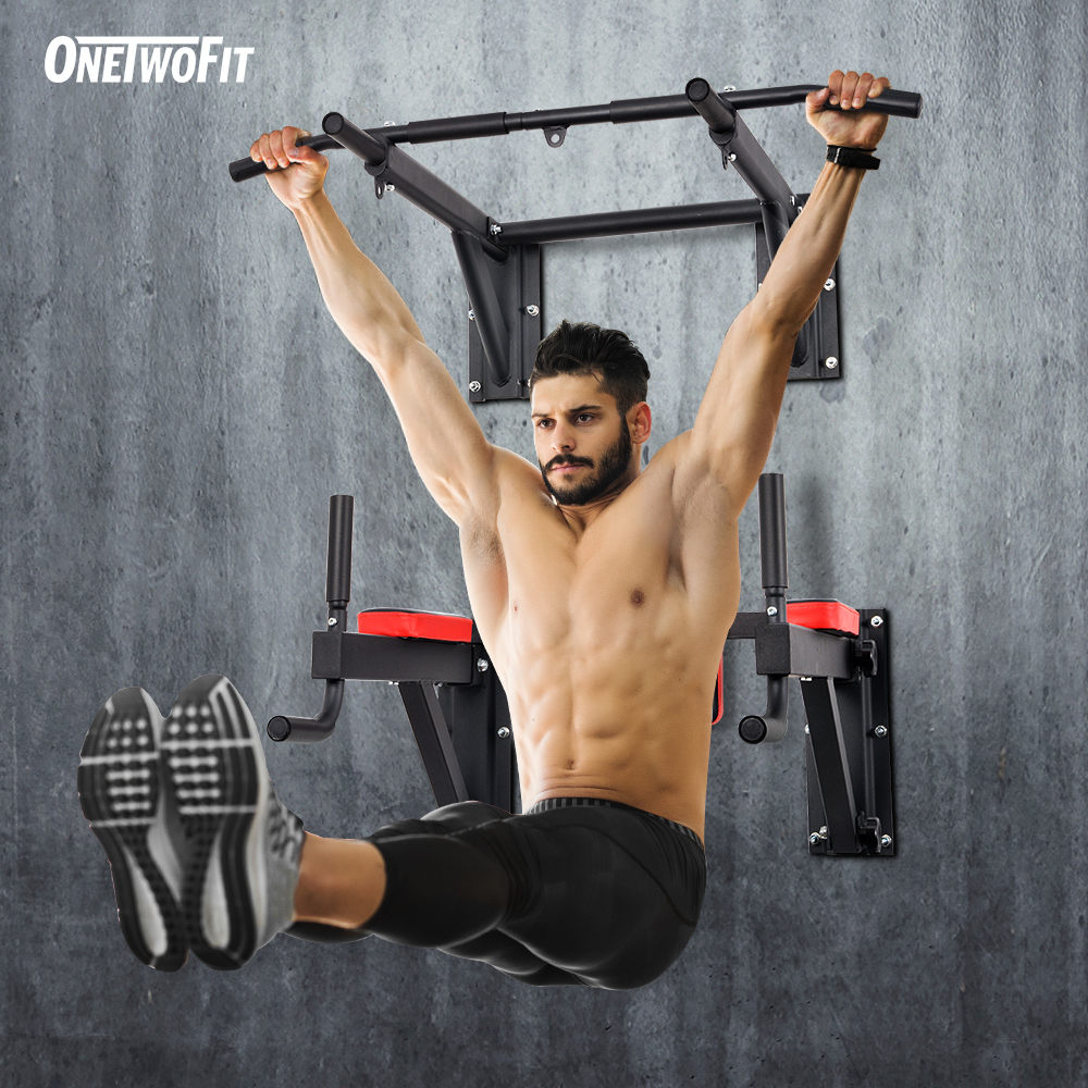 Pull Up Bar Duty Chin up Wall Mounted Heavy Gym Workout Training Fitness Tool
