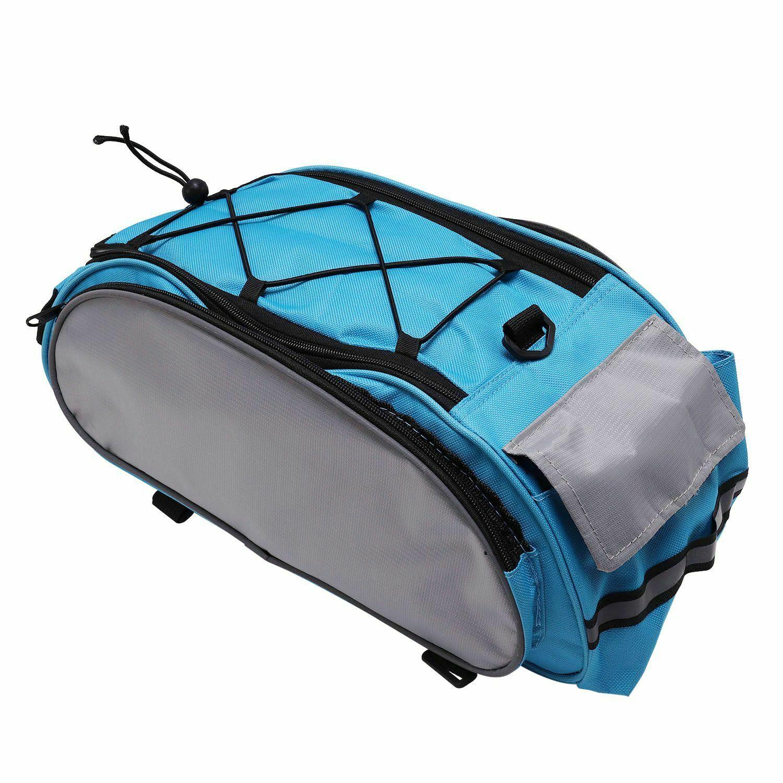 Купить с кэшбэком Bike Bag Rear Saddle Bag Bicycle Bike Basket Back Bikepacking Saddle Bag Polyester Cycling Back Pack Mountain Bike Accessories