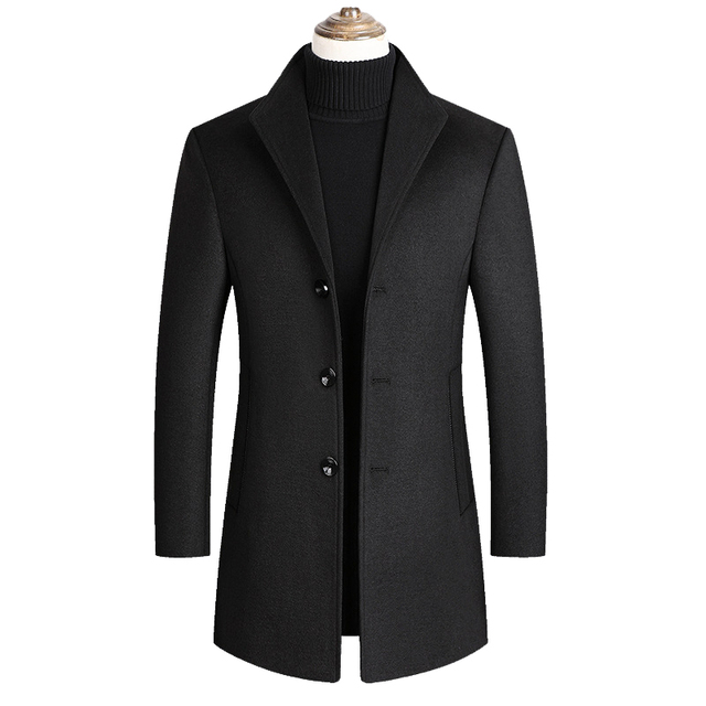 Mountainskin Men Wool Blends Coats Autumn Winter New Solid Color High Quality Men's Wool Jacket Luxurious Brand Clothing SA837 4