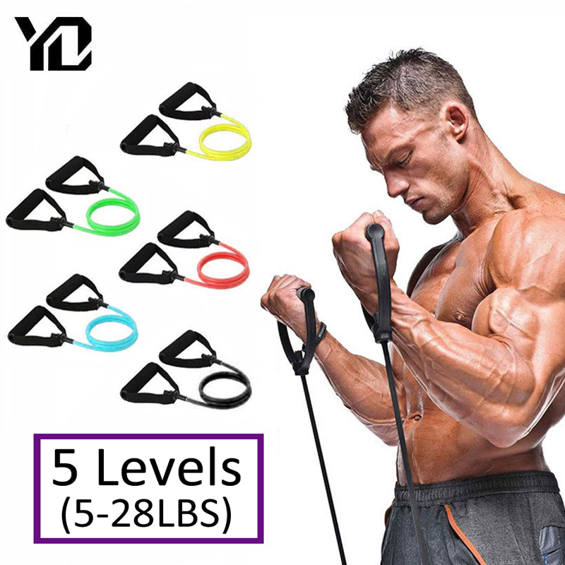 120 см фитнес-резинки для тренажерного зала эластичные ленты для йоги тянущиеся веревки для фитнеса тренировка для дома тренировка 5 уровней