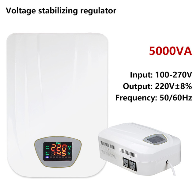 Voltage regulator AC 100/110/170/240V to 220V 230V Air conditionerpower Automatic voltage transformer Wall mounting homeset
