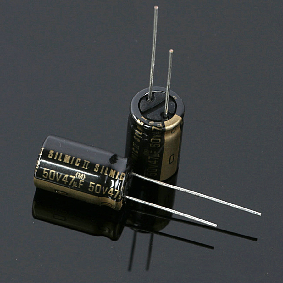 10PCS Original Thailand ELNA SILMIC II RFS 47UF 50V 10X16MM Audio Electrolytic Capacitor NEW SILMICII 50V47UF Hot Sale