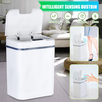 Automatic 12L Touchless Smart Infrared Motion Sensor Rubbish Waste Bin Kitchen Trash Can Garbage Bins for Home Room Kitchen Car|Waste Bins| |  -