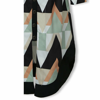 Womens Long Shirt Dress Wave Print Long Sleeve V-neck Casual Autumn Loose High Waist Holiday Midi Dress Vestidos Longo Plus Size 5