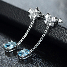 Womens Bow Stud Earrings Plated in White Gold Color Imitation Natural Korean Zircon