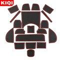 Силиконовые автомобильные ворота Слот коврик подходит для Honda HR-V HRV vezel 2014-2019 Нескользящие двери паз защитные подстилки аксессуары