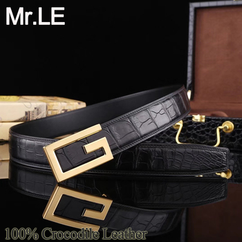 Crocodile Belts Men Dress 100% Genuine Leather Suit Original Design Party Wedding Brand Oxford Casual Formal Luxury Belt