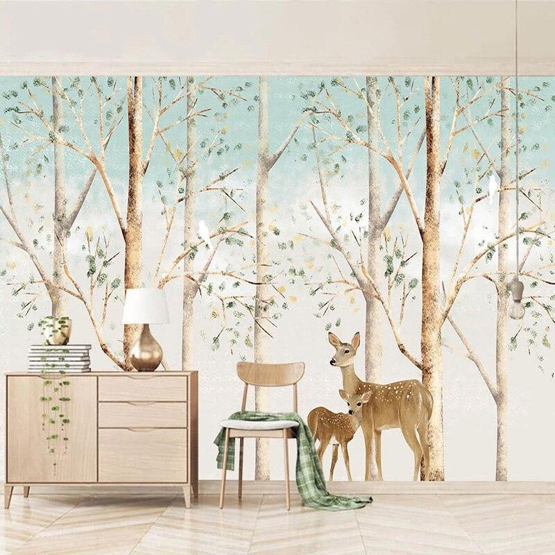 Custom Photo Wallpaper Modern Hand-painted Rlk Forest Murals Living Room TV Sofa Background Wall Home Decor Papel De Parede 3 D