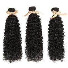 Дебютный малазийский пучок человеческих волос Кудрявые локоны 30 дюймов пучки человеческих волос пучки природы цветные наращивания волос 3/4 пучков