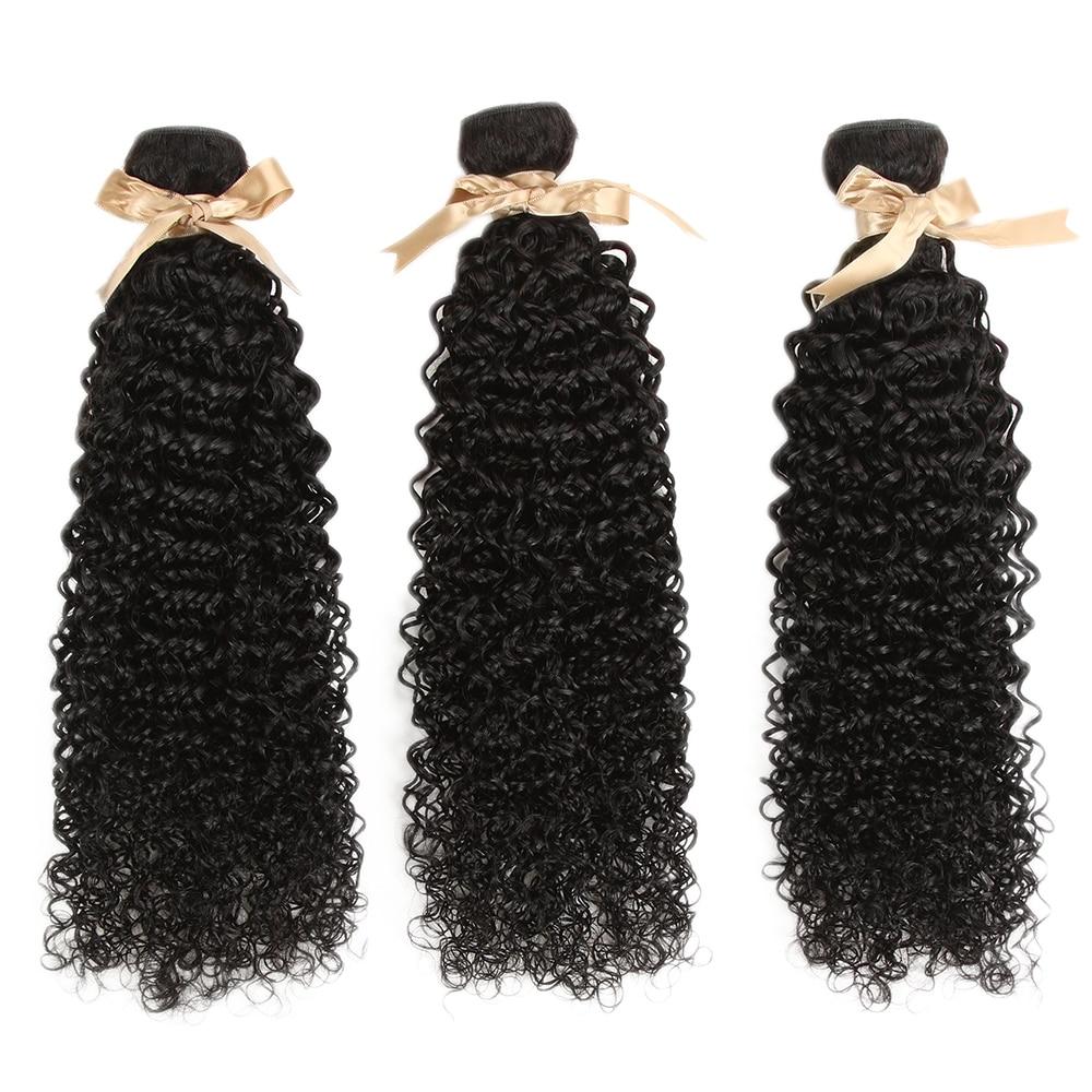 Debut Malaysian Human Hair Weave Bundles Kinky Curl 30 Inch Bundles  Human Hair Bundles Nature Color Hair Extensions 3/4 Bundles