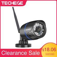 Cámara Wifi Techege 1080P 2.0MP para interior y exterior, impermeable, visión nocturna, con cable, inalámbrica, cámara de videovigilancia, tarjeta SD