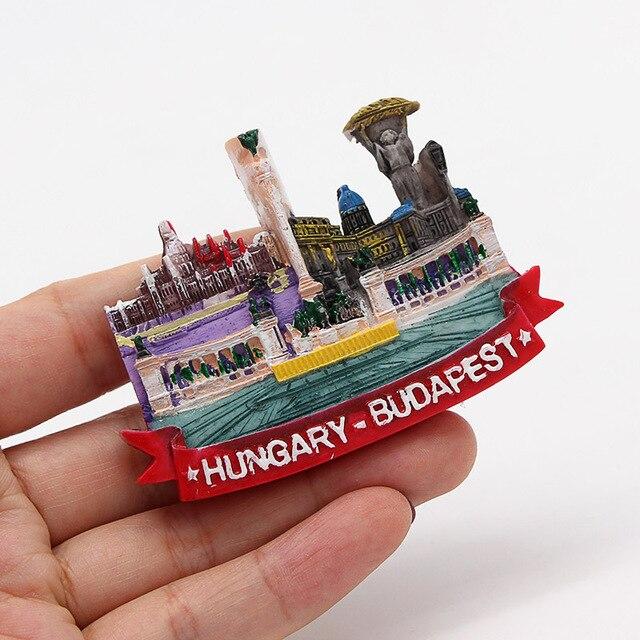 Lucerne lion Macao Italy Venice New Zealand 3D magnetic refrigerator sticker Souvenirs home decoration Budapest Hungary Cambodia 5