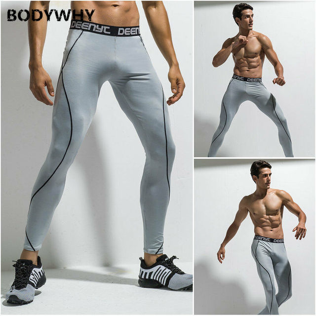 Mens Gym Sport Thermal Tight Compression Base Layer Pants Long Leggings Trousers  Skinny  Full Length 6