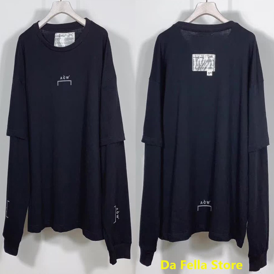 Long Sleeve A COLD WALL T-shirt Double Sleeves Inside Back Tags A-COLD-WALL* Tee 2020 Men Women Classic ACW Tops T-shirts