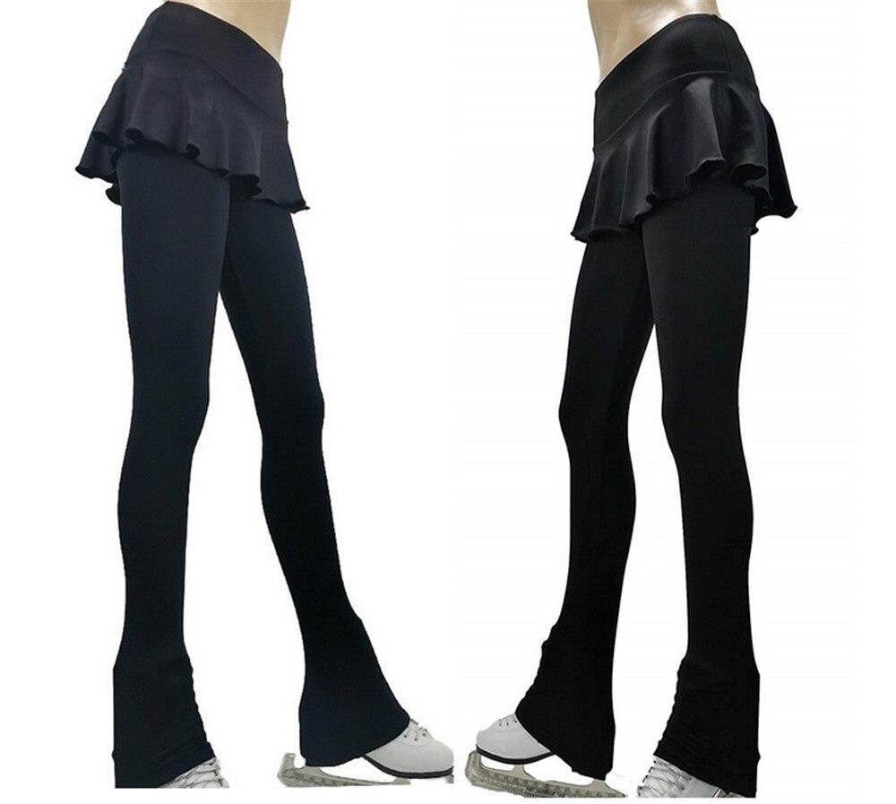 LIUHUO Figure Skating Pants Girls Training Wear Quality Crystals Black Child Skating Leggings