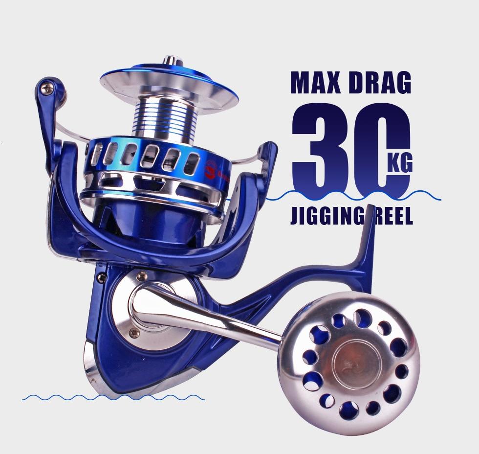Mavllos max arraste 30kg lento jigging carretel