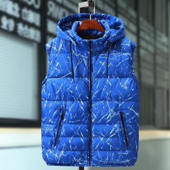6XL 8XL 10XL Fashion Hooded Vest Men Thicken Warm Cotton-padded Waistcoat Male Sleeveless Jacket Camouflage Detachable Plus size