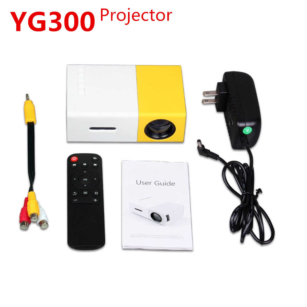 KEBIDU YG300 projecteur Mini projecteur 600 lumen 3.5mm Audio 320x240 Pixels YG-300 projecteur LED HDMI USB lecteur multimédia