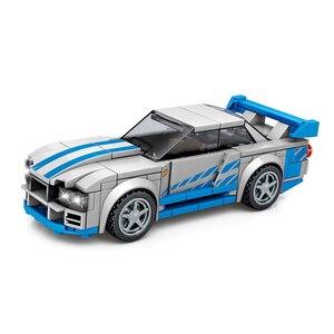 Image 2 - Sembo Block modelo de coche de carreras Speed Champions, la técnica de bloques de construcción, vehículo de ciudad, superracers, deportes, construcción, juguetes, amigos