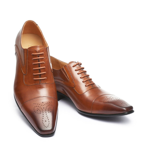 Formal Leather Long Toe Dress Shoes 6