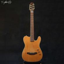 Boa qualidade corpo fino cutway guitarra clássica elétrica silenciosa guitarra clássica