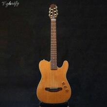 Di buona qualità sottile del corpo cutway elettrica chitarra classica silenzioso chitarra classica