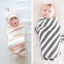 Радужное Полосатое детское Пеленальное Одеяло хлопковое одеяло