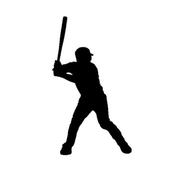 Personality Car Sticker Decoration Baseball Player Car Styling Vinyl Decal Accessories PVC 14cm X 8cm 420 sticker decal self adhesive vinyl body decoration waterproof personality accessories car