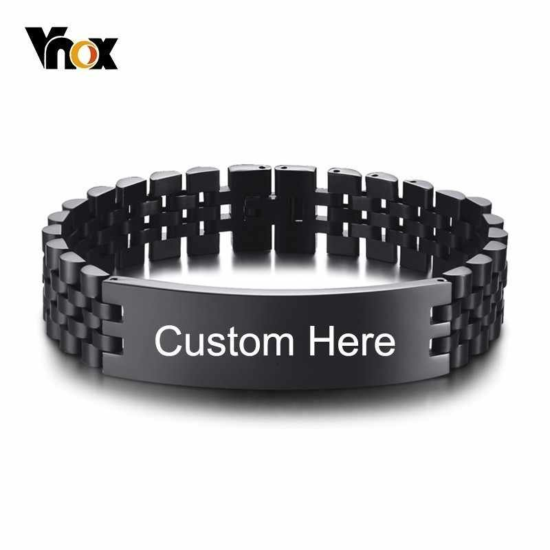 Vnox 15mm Chunky Personalize Bracelet