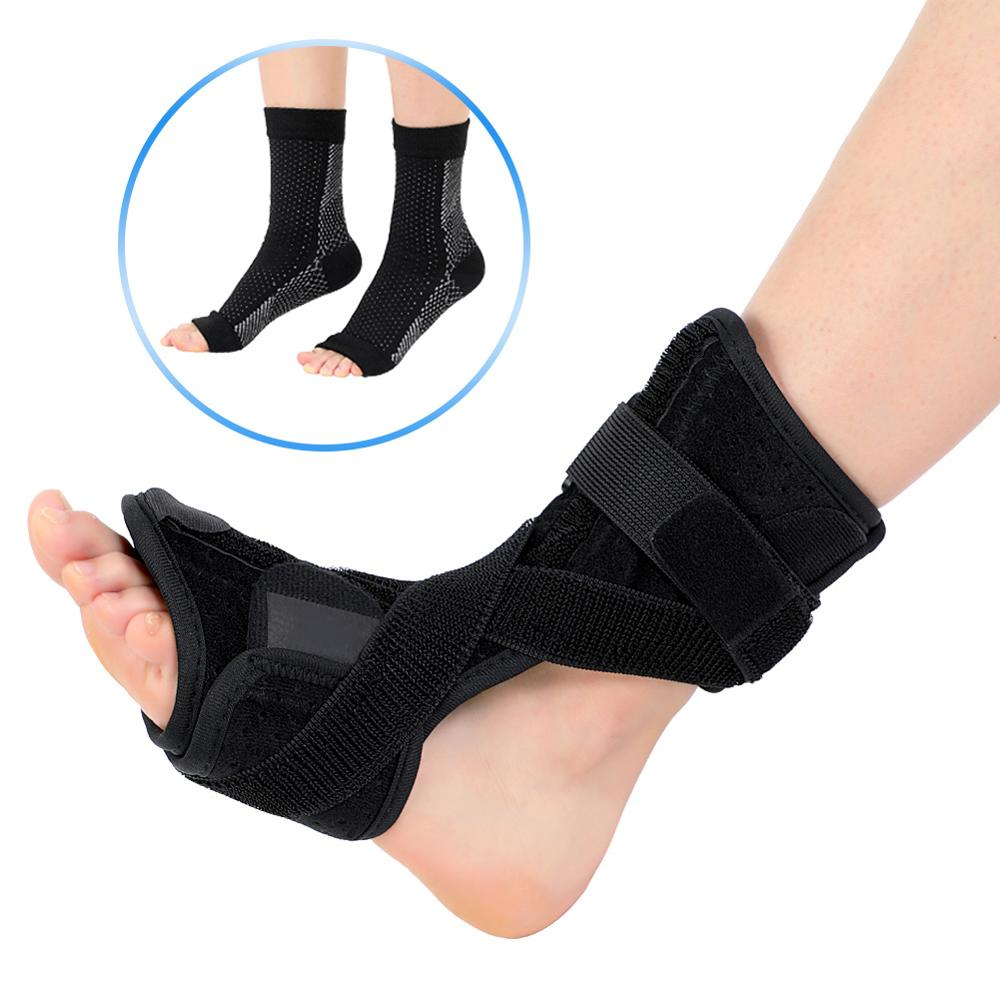 Plantar Fasciitis Dorsal Night Splint For Heel Pain Relief Foot Drop Orthotic Brace For Sleep Support With Correct Knitted Socks
