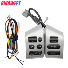 Car Accessories Steering Wheel Control Buttons With Backlight Silver Black Buttons For Nissan Livina Tiida Sylphy