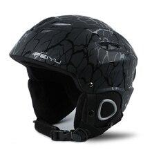 Acexpnm 2019 capacete de esqui integralmente moldado snowboard capacete das mulheres dos homens skate de patinação capacete de esqui snowboard para a segurança